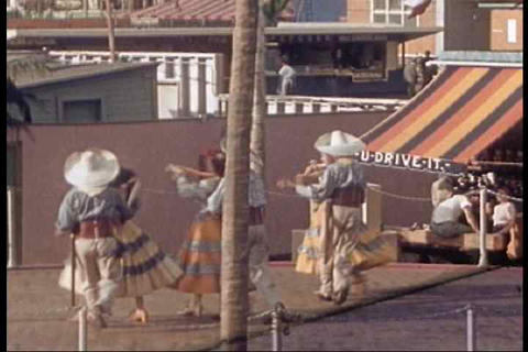 Cuba Village and dancing are seen from the 1939 NY Live Action