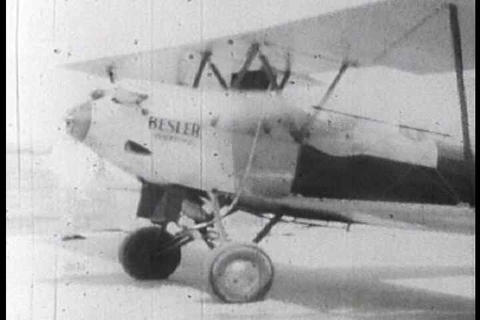 Besler's steam powered airplane is demonstrated Footage