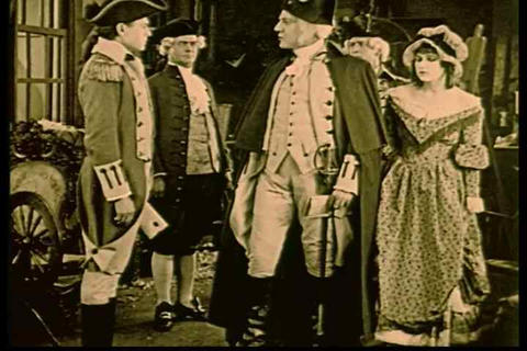 Betsy Ross admits to General Washington that she i Live Action