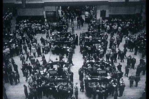 The New York Stock Exchange trading Footage