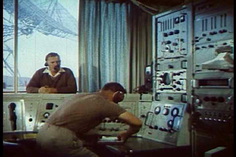 The first satellite transmission of a recorded mes Footage