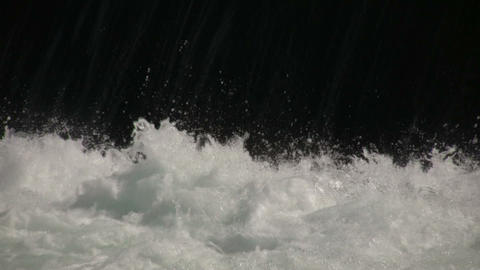 Close-up of Water splashing at bottom of waterfall (High... Stock Video Footage