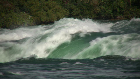 Close-up of water falling over the edge at Niagara Falls Stock Video Footage