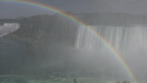 Beautiful scenic of Niagara Falls from Canadian side (High Definition) Footage