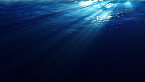 Underwater scene with sunrays shining through the water (looping, high definition 1080p) Animation
