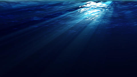 Underwater scene with sunrays shining through the water... Stock Video Footage