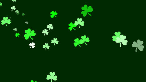 Bunch of clovers are drifting across screen (high... Stock Video Footage