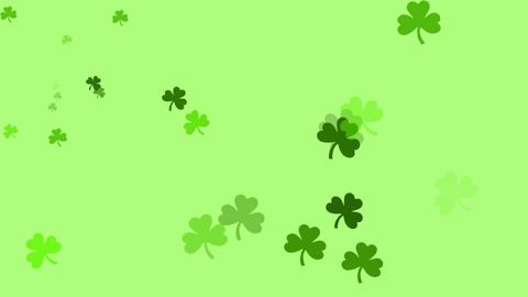 Bunch of clovers are drifting across screen (high definition 1080p) Animation