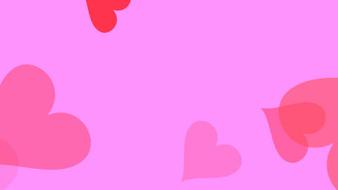 Large Hearts Pink Animation