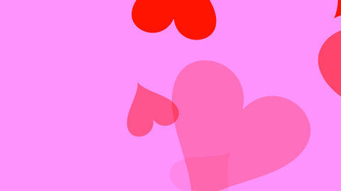 Large Hearts Pink Stock Video Footage