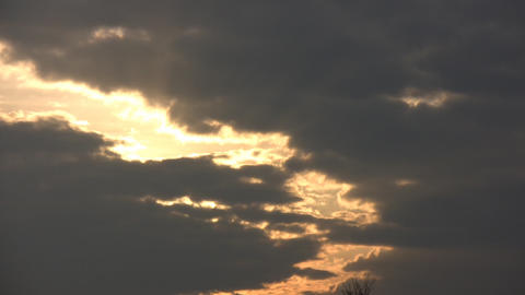Sunset Clouds Stock Video Footage