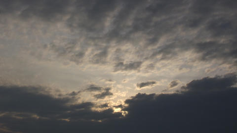 Beautiful timelapsed clouds move and continuously change... Stock Video Footage