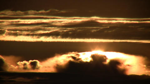 Morning Scenic Of A Sunrise Admist The Clouds (High Definition) stock footage