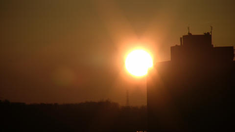 Sunset in the City Stock Video Footage