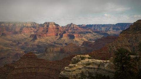 (1135) Grand Canyon Arizona Landscape Rain Storm Clouds... Stock Video Footage