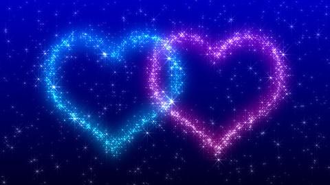 Glitter Heart KH BfC HD Stock Video Footage
