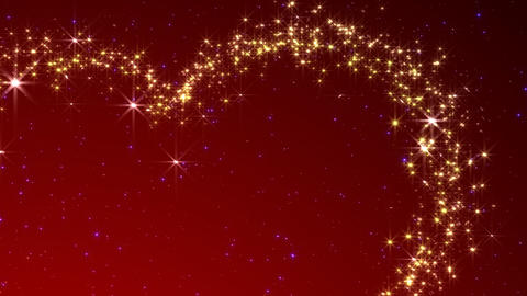 Glitter Heart KH BhA HD Stock Video Footage