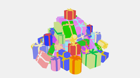 Present Pile1 I HD Stock Video Footage