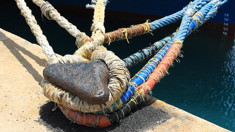 Mooring Rope stock footage