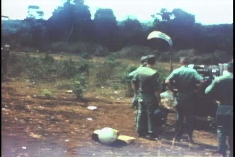 A group of soldiers find a wrecked plane and salva Footage