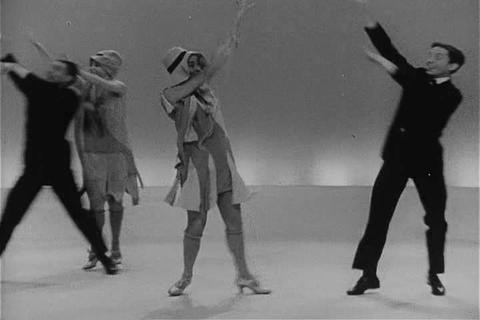 Men and women perform the Charleston in the 1950s Footage