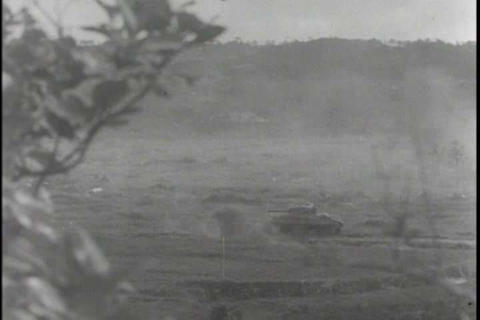 The 7th infantry division battles Japanese forces  Footage