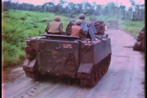 The United States military fights Vietcong forces  Footage