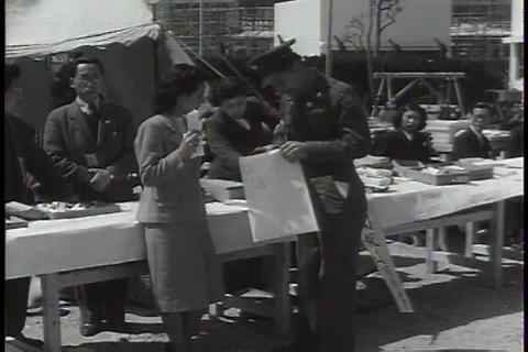 The 25th infantry division departs from Japan and  Footage
