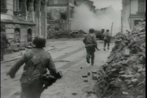 The 29th infantry division battles German forces d Footage