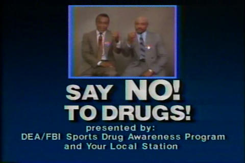 Various sports stars say no to drugs in the 1980s Live Action