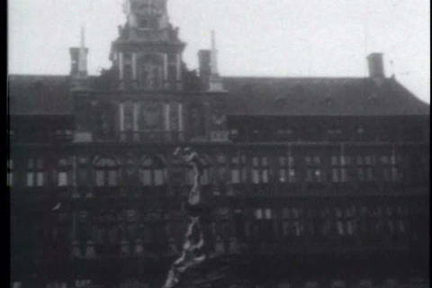 The City Of Antwerp In Belgium Had Beautiful Cathe stock footage