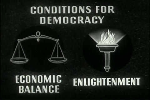 An important aspect of Democracy is economic balan Live Action