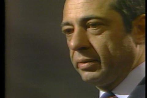 Governor Mario Cuomo delivers a speech at the 1984 Footage
