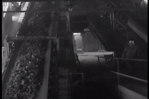 Copper ore is mined and transported by locomotive  Footage