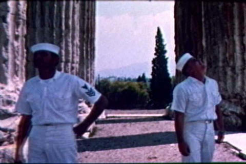 Naval crewmen visit Greece while on a break during Live Action