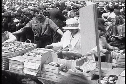 A fair is held for the citizens of Detroit in the  Footage