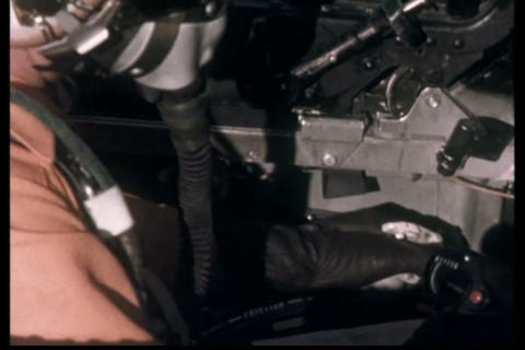An Air Force jet is examined and used for simulati Live Action