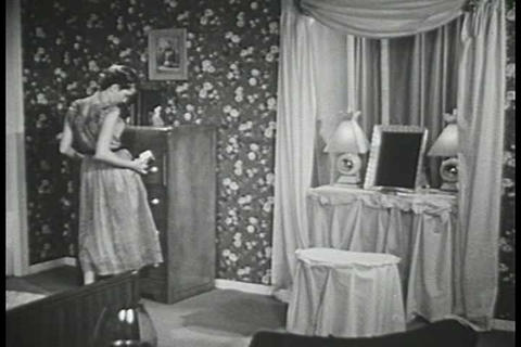 Susan gets ready for a party during the 1950s Live Action