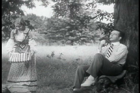 A Young Doctor And His Wife Have A Picnic Together stock footage