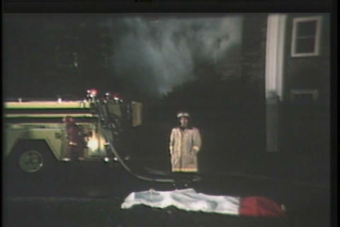 A fireman discusses why fire safety is important d Footage
