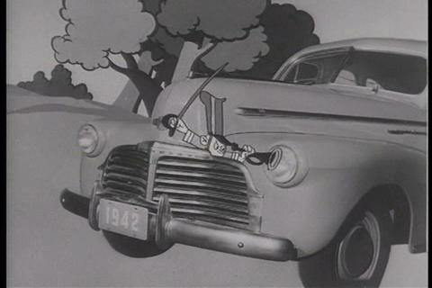 A Cartoon Detailing How Car Imps Keep Automobile E stock footage