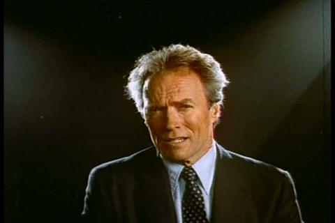 Clint Eastwood Warns Us About The Dangers Of Crack stock footage