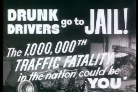 This 1930s commercial warns us not to drink and dr Footage