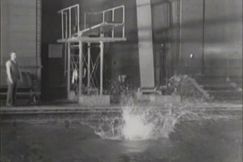 Swimming championships at the Big Ten meet 1931 Live Action