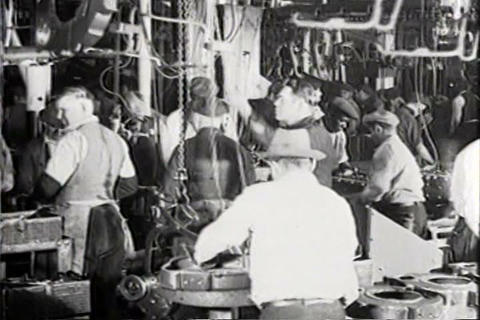 Newsreel story about Ford putting 107,000 people t Footage
