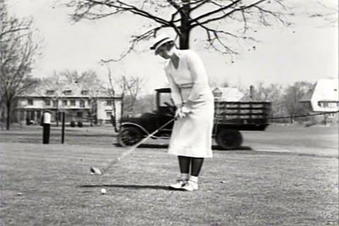 Women's golf in 1934 Footage