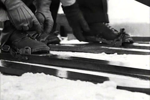 Ski jumping becomes an exciting sport in 1934 Footage