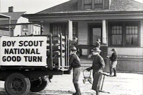 The Boy Scouts do charitable things in 1934 Live Action