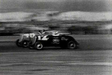 Stock Car Race In Los Angeles In 1934 stock footage