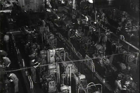 European car factory in 1948 Footage